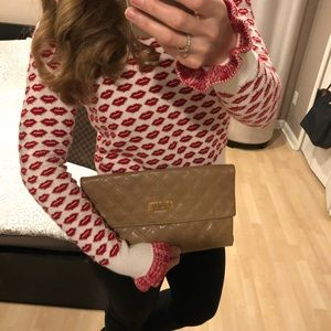 Authentic Marc Jacobs quilted envelope clutch